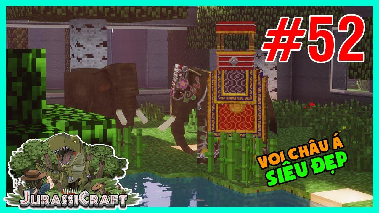 Minecraft CVKL #52 : Voi Châu Á với các trang bị cực kì sang trọng