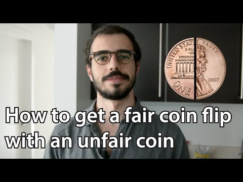 How To Get A Fair Coin Flip With An Unfair Coin