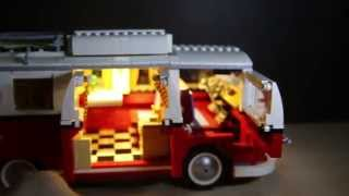 Lego 10220 Creator Volkswagen T1 Camper Van + Liteupblock Led Usb Kit Review