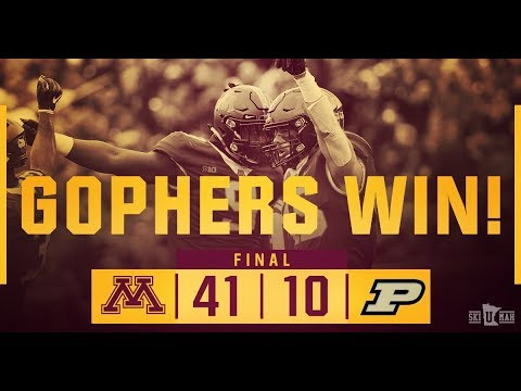 Gopher - HIGHLIGHTS: Gophers football blasts Purdue in 41-10 victory at home