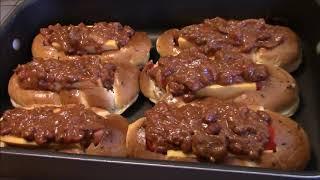 SUPER BOWL FOOD   CHILI CHEESE DOG BOATS