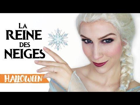 Maquillage Dhalloween Elsa La Reine Des Neiges