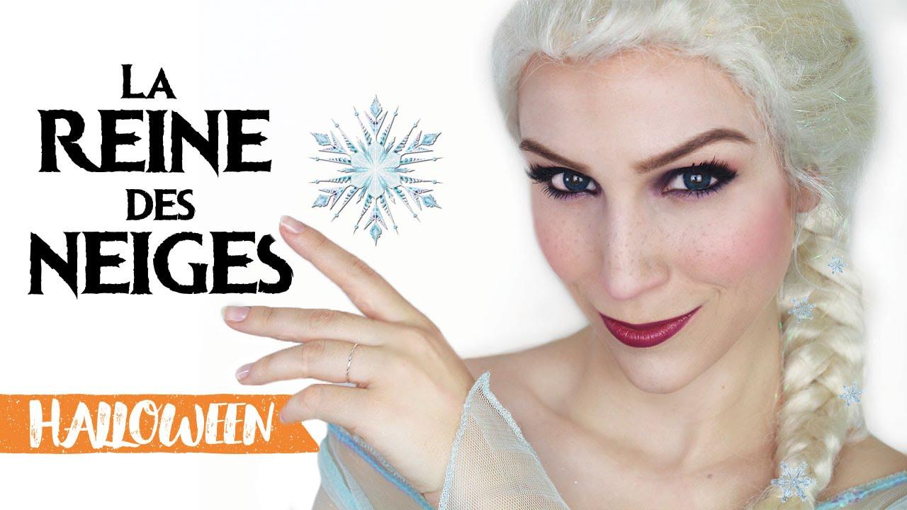 Maquillage Dhalloween Elsa La Reine Des Neiges Youtube