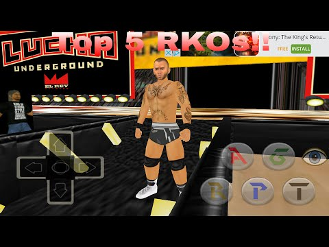 Top 5 RKOs!! (Wrestling Revolution 3D 2k16 mod) by Nightmare The Gamer