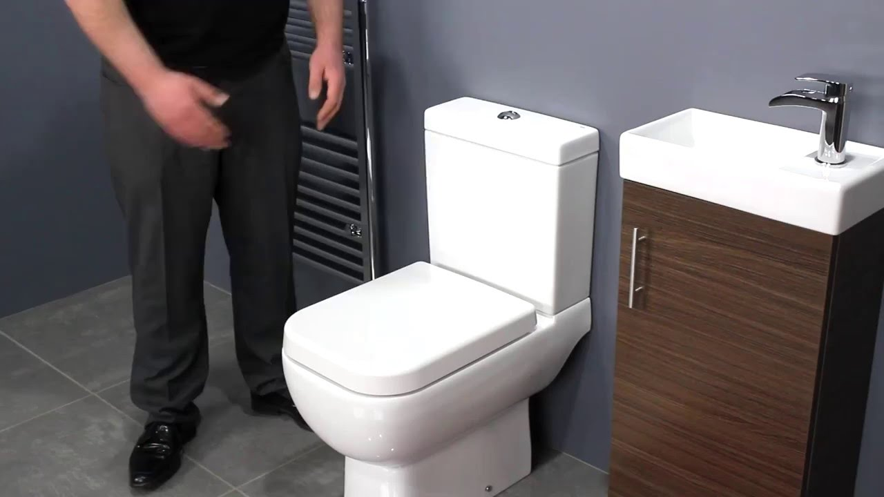 bathroom space saver ideas walnut vanity unit amp space saving toilet for small 16054