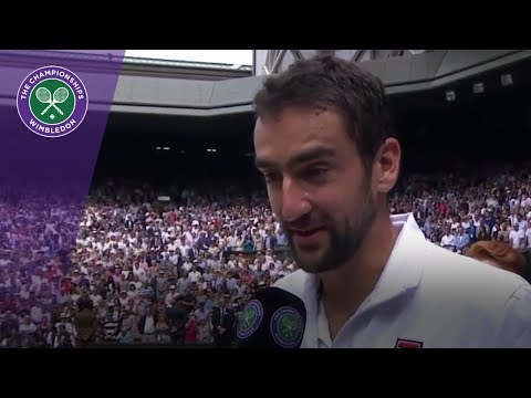Marin Cilic Wimbledon 2017 final runner-up interview