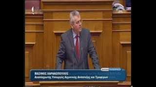 10 Μαρτίου 2014 - Μάξιμος Χαρακόπουλος σε επερώτηση της ΔΗΜΑΡ για τα αγροτικά