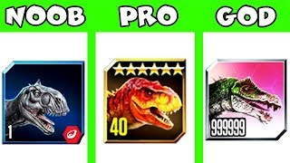 NOOB vs PRO vs GOD!!! (JURASSIC WORLD)