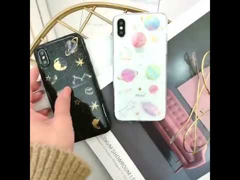 LOVECOM Epoxy iPhone Case Planet Star