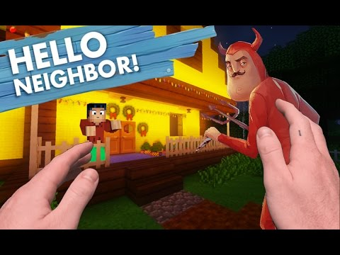 Realistic Minecraft: Hello Neighbor - Satan Neighbor is THE DEVIL!