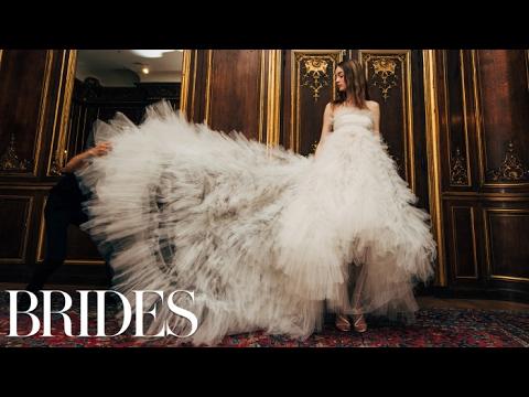 Oscar De La Rentas Wedding Dresses Spring 2018 Brides Youtube