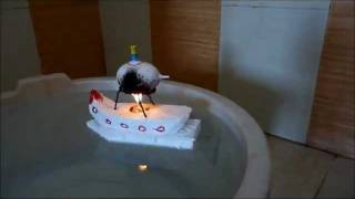 Steam Powered  Toy Boat Made From Egg Shell
