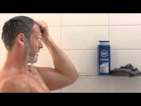 NIVEA MEN Active3 3 in 1 Body Wash Shower Gel, 16 9 oz Bottle Pack of 3 Bath And Show