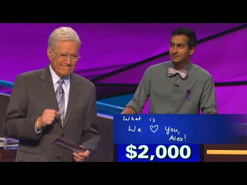 Tracy Lynn - Alex Trebek Chokes Up With Contestants Kind Message
