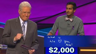 Alex Trebek Chokes Up On Jeopardy! Over Contestant's Sweet Message of Support