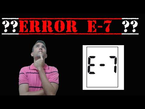 ERRO E7 glicosímetro ACCU CHEK ACTIVE (error e 7)