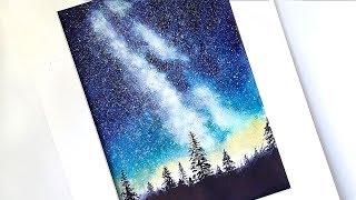 """Видео урок рисования акварелью """"Млечный путь"""" (Превью к уроку)"""