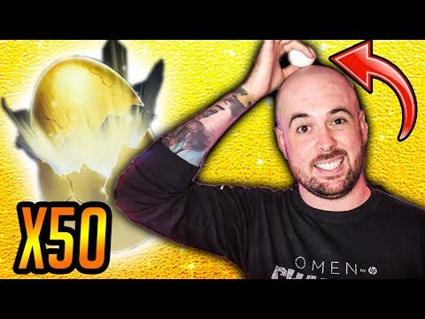 Cracking *REAL* EGGS on my HEAD?! - 50 Golden Egg Opening