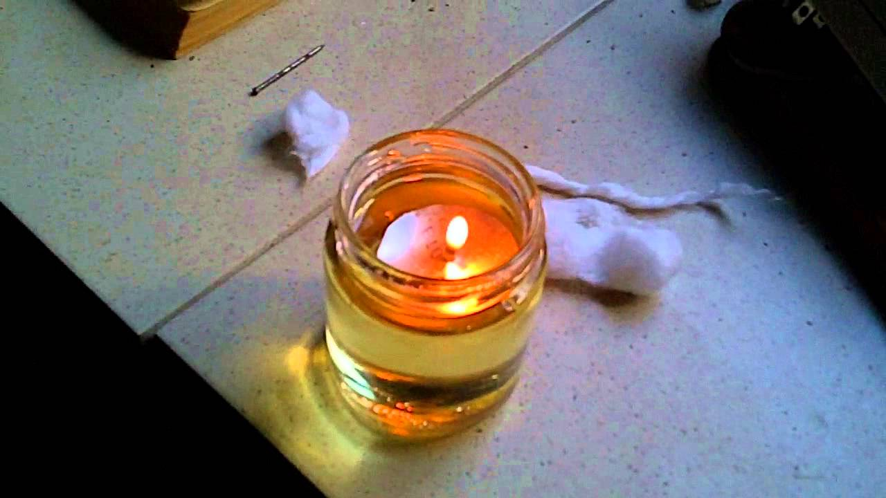 cooking oil candle