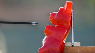 Can World's Largest Gummy Bear Protect iPhone 6 From An Arrow?