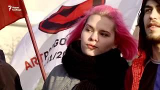 В России провели пикет в защиту политзаключенных