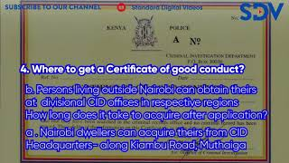 Do you qualify to Get a certificate of good conduct? Find out- SDV Explainer