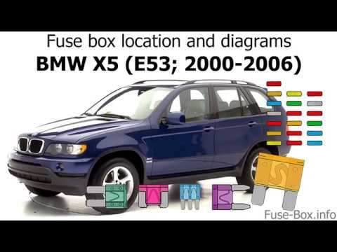 Fuse Box Location And Diagrams Bmw X5 E53 2000 2006 Youtube