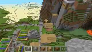 INSANE VILLAGE SEED! :: Minecraft Pocket Edition Seed Review