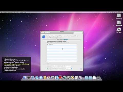 Pro Tools® 8 Optimizations Mac OS X 10.6 - Pro Tools Customer Service