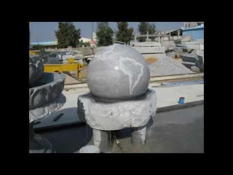 43inch granite globe sculpture