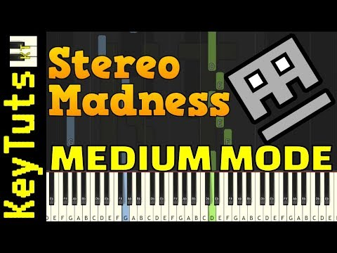 Learn To Play Stereo Madness From Geometry Dash - Medium Mode