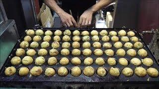大阪のたこ焼き プロが焼くたこ焼き(道頓堀くくる) Delicious Takoyaki of Osaka Dotonbori 大阪道顿堀的美味章鱼烧烤