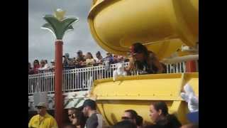 Short clip of Stephen Lashbrook with blow up Goat during deck show 311 Cruise 2013