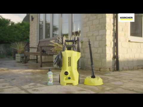KARCHER FULL CONTROL K2 HOME 110BAR PRESSURE WASHER 1.4KW | Screwfix