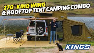 Check out this complete camping solution for both shelter and sleep from Adventure Kings