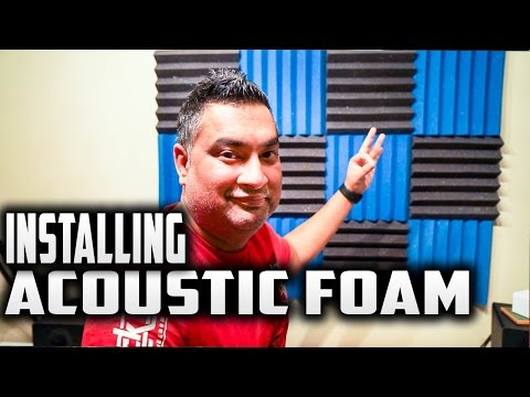 How to Install Acoustic Foam Without Damaging Your Walls