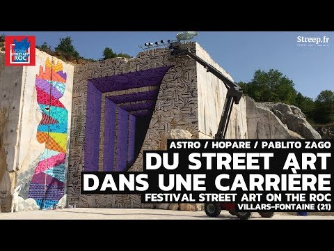 Du Street art dans une carrière ! Festival Street Art on the Roc