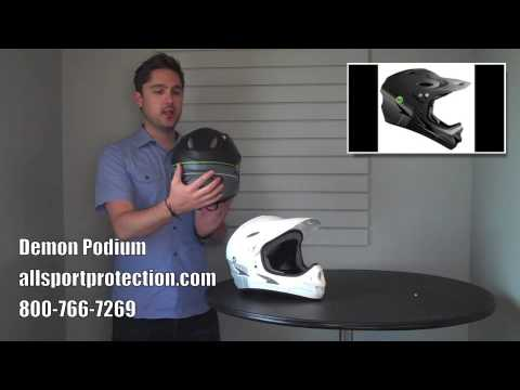 Demon Podium Full Face Helmet For Downhill Mountain Biking And Bmx