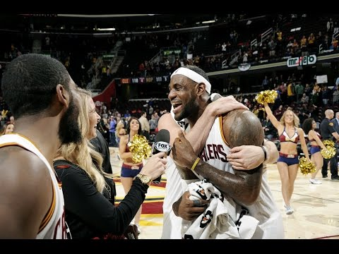 Dion Waiters and Kevin Love Videobomb Kyrie and LeBron