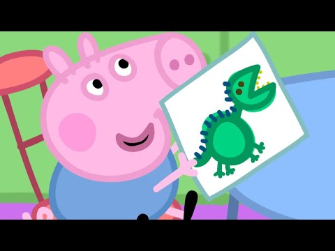 Peppa Pig English Episodes - Peppa at School! - Cartoons for Children