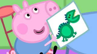 Peppa Pig Episodes - Peppa at School! - Cartoons for Children