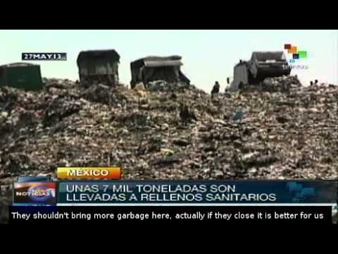 Mexico City has a poor waste management