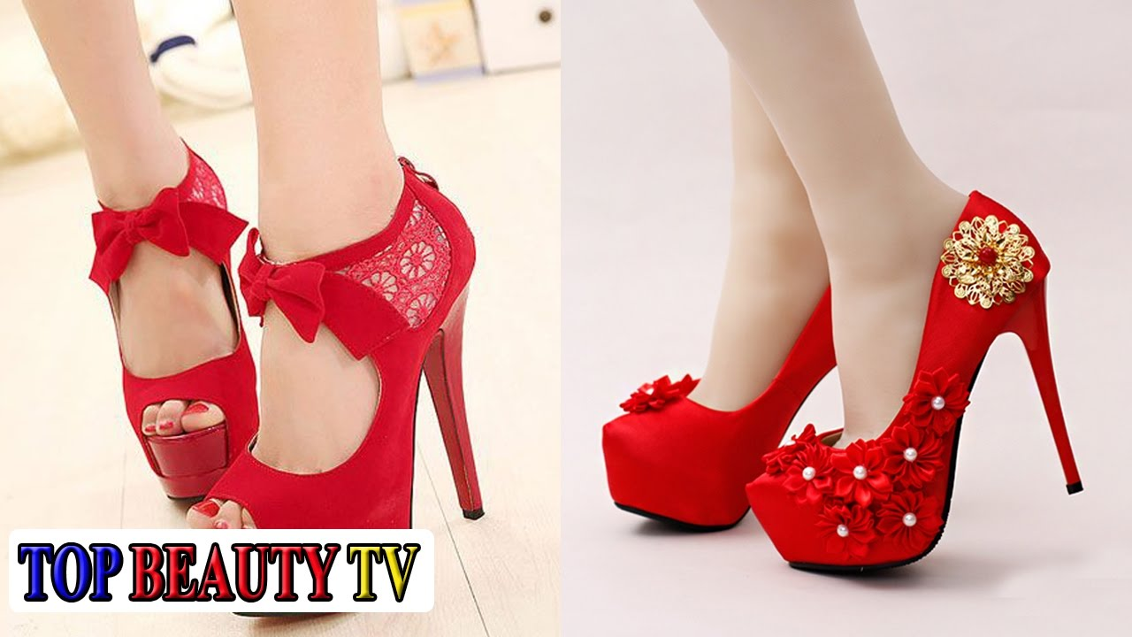 Top beautiful Red High Heels shoes for women | Beauty TV - YouTube