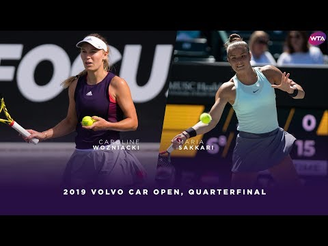 Caroline Wozniacki vs. Maria Sakkari | 2019 Charleston Open Quarterfinal | WTA Highlights