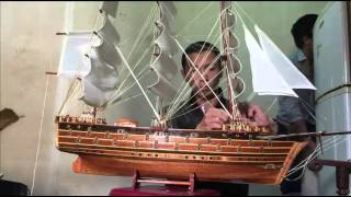 Assembly Wooden Model Ship