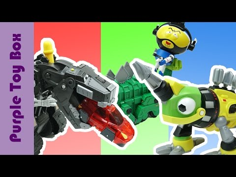 Thumbnail: DinoTrux Construction Dinosaur Toys With Sound Shadow TY Rux, Garby, Revvit