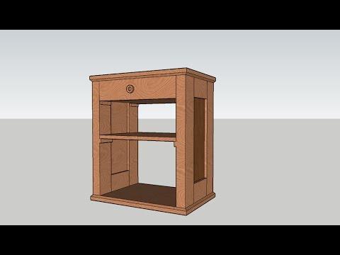Progetto Credenza Fai Da Te : Progetto in legno comodino prima parte youtube