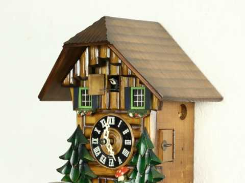 Cuckoo Clock 1920's Carved Antique Signed Germany #26569