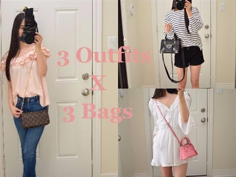 3 Outfits x 3 Bags + New Louis Vuitton Felicie Strap preview!