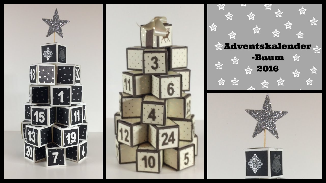 Relativ Adventskalender Baum - Stampin'Up! - YouTube QQ07